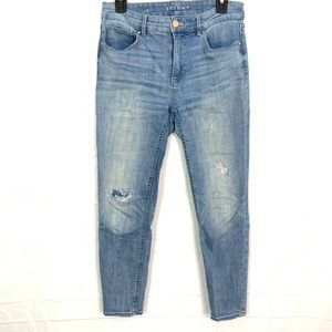 White House BLACK MARKET THE SKINNY Crop Jeans  4